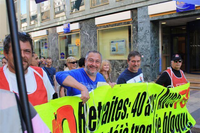 Manifestation à Dijon contre la réforme des retraites le 23 septembre 2010