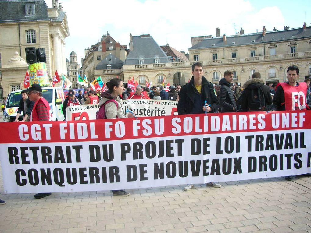 Manifestation du 9 avril 2016 à Dijon