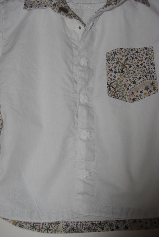 Détails de la chemisette d'E.