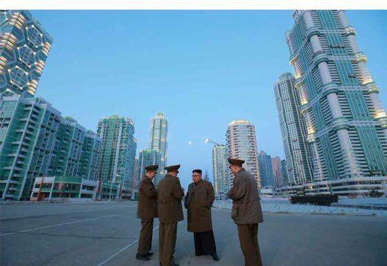 El 'skyline' de Corea del Norte se amplía mientras Kim Jong-un guarda silencio(FOTOS)