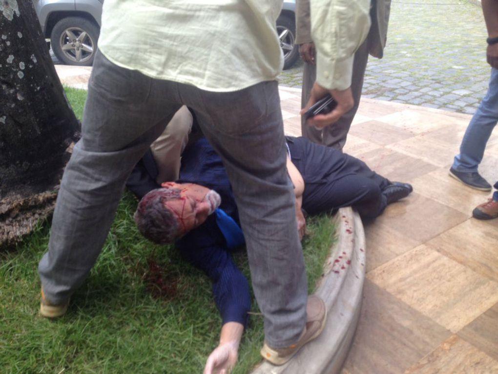 Brutal ataque de los colectivos chavistas a los diputados opositores en el interior de la Asamblea Nacional (Fotos)