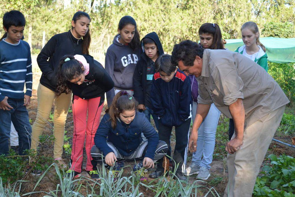Promotores Estudiantiles se capacitan en la huerta granja de INTA Las Breñas