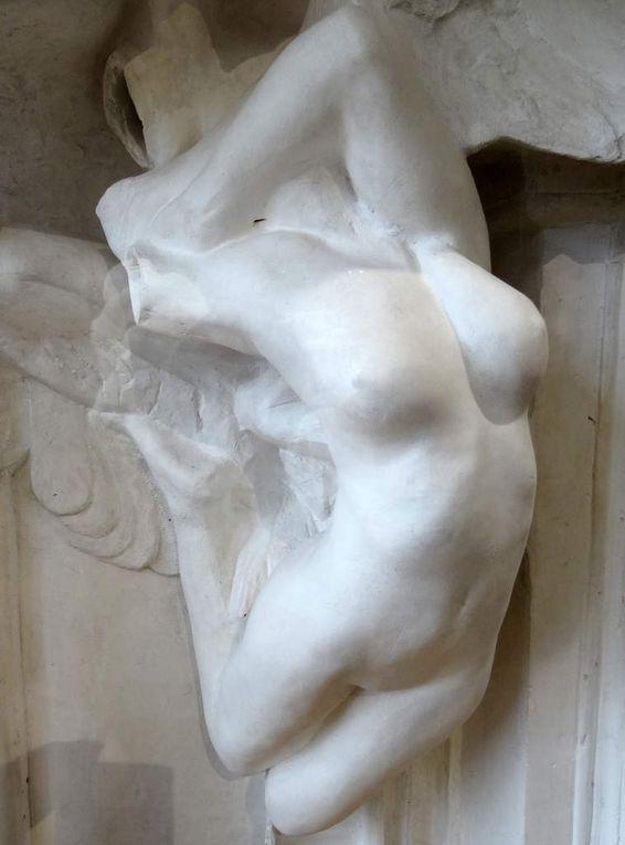 La Porte de l'enfer - 1880-1882 - Maquette haut relief en plâtre et sculpture de détails