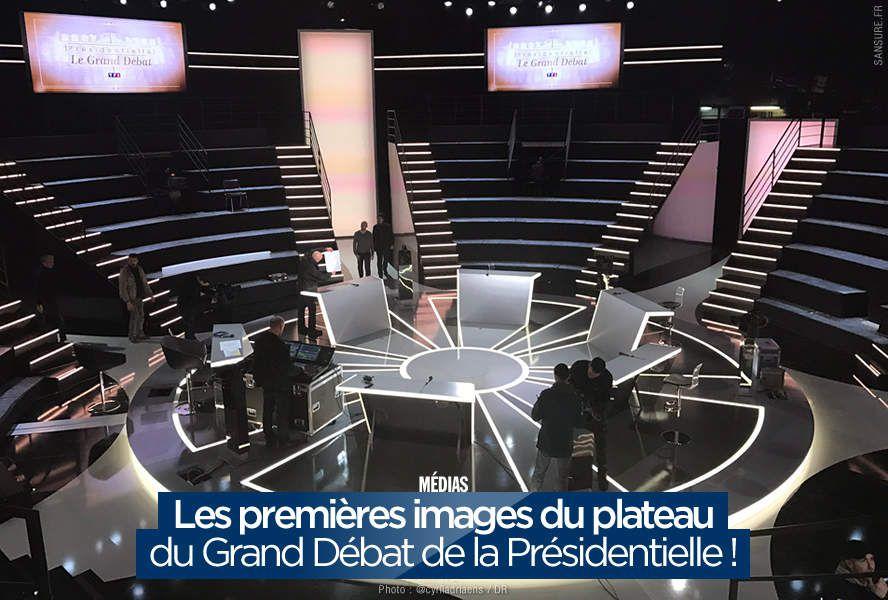 Les premières images du plateau du Grand Débat de la Présidentielle ! (diaporama) #LeGrandDebat