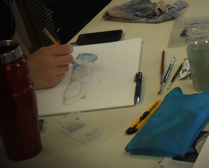 Atelier libre avec Modèle vivant / Adulte