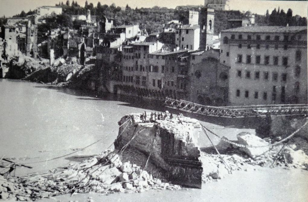 immagini di Firenze nell'agosto del 1944