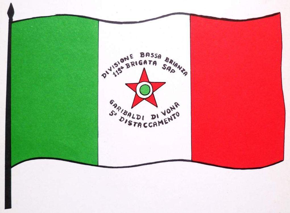 tibro, bandiera e zona operativa della 119ma brigata