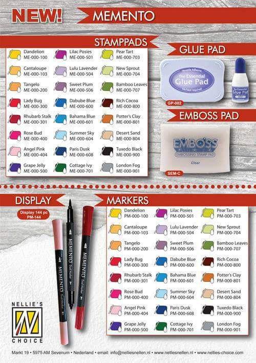 Voici les références des produits utilisés.Vous pouvez trouver les revendeurs des produits Nellie Snellen sur le site de Geca diffusion!