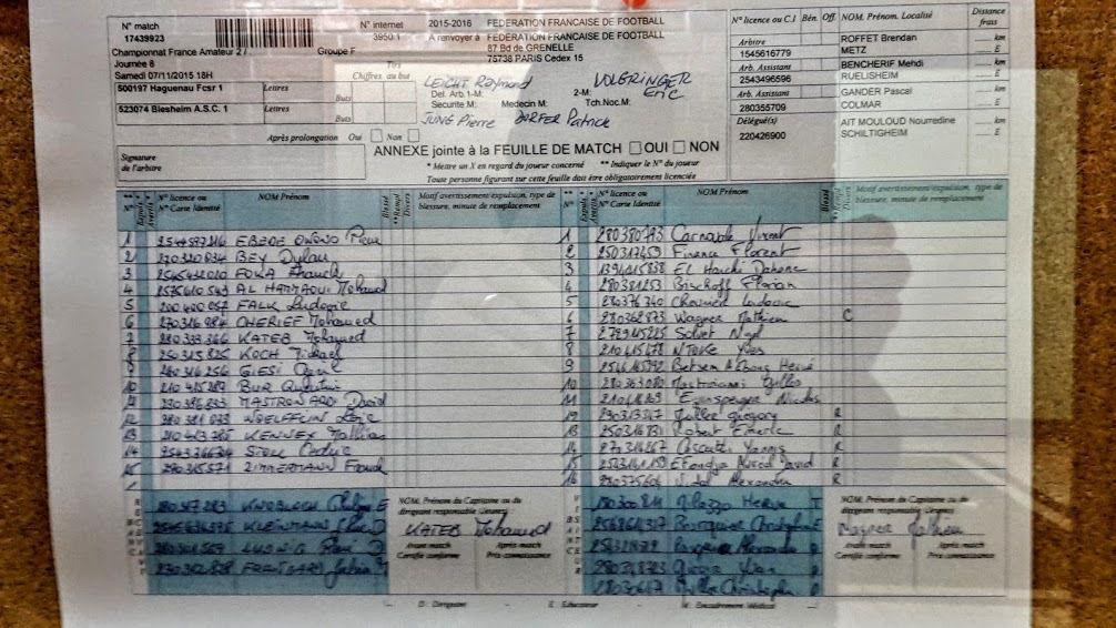 Groupe F de CFA2, 8è journée