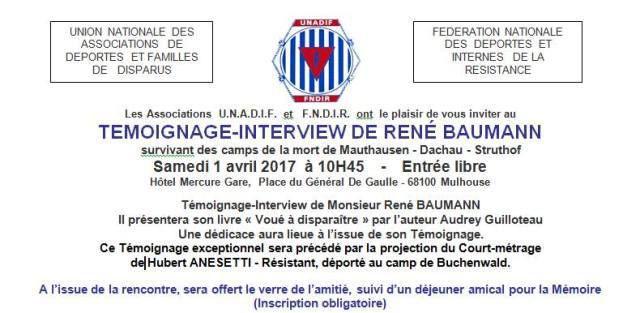 René Baumann, Déporté NN, témoigne