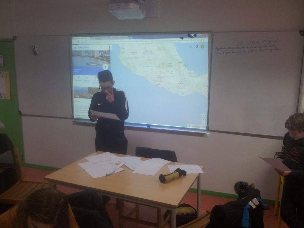 Les 3ème1 présentent leurs régions du Mexique à l'oral !