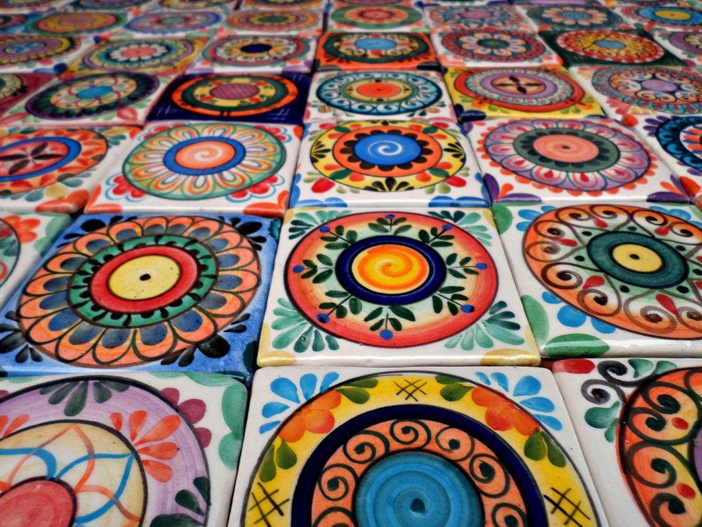 Estilo mandal sticos azulejos artesanales elaborados y for Azulejos artesanales