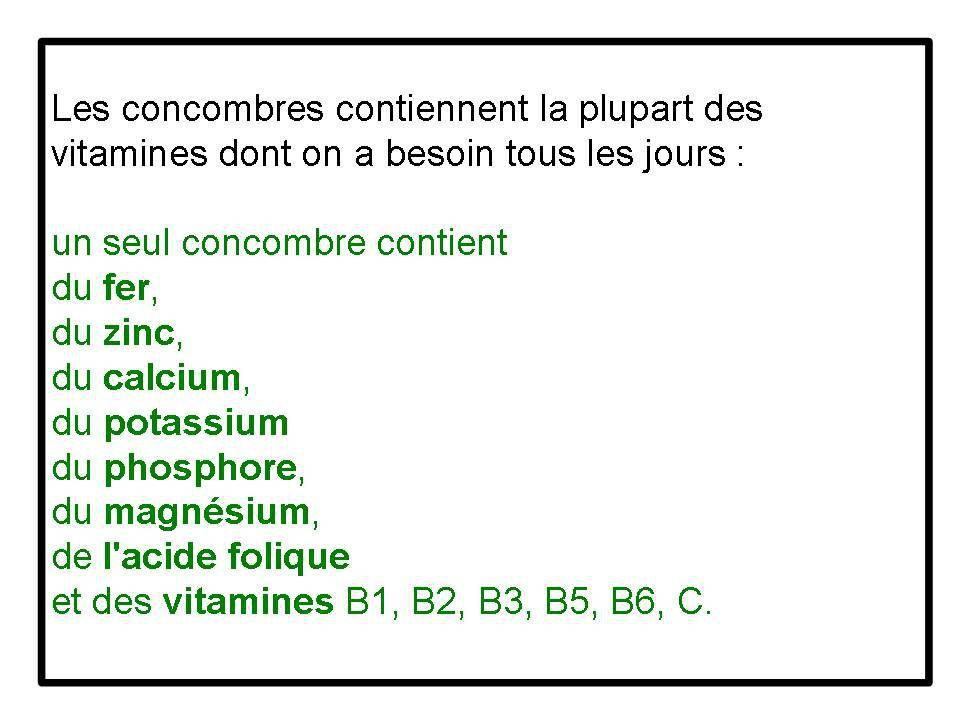 Divers - Concombre ...fou....