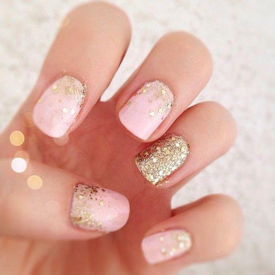 Nail art paillettés
