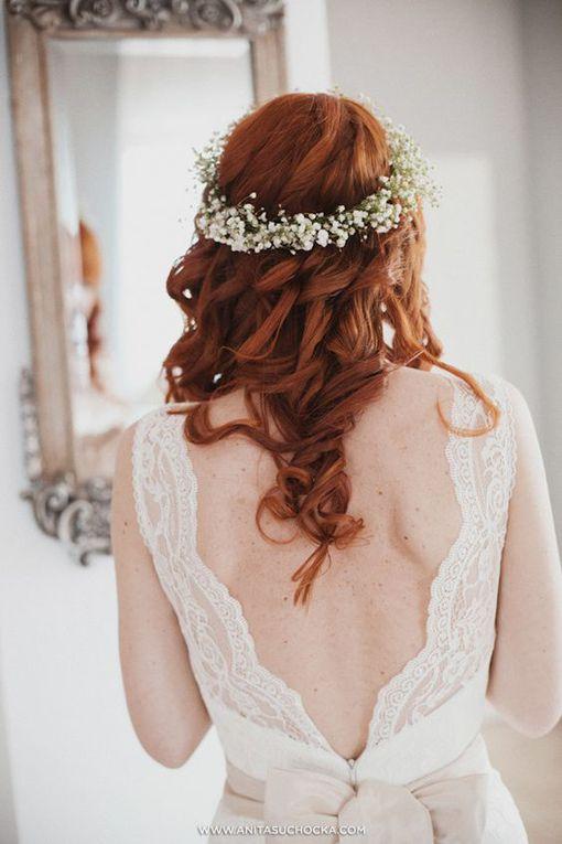 20 coiffures de mariage spécial cheveux roux