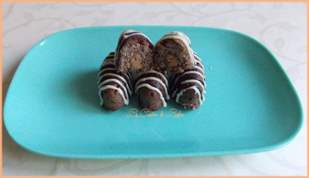 Navettes au quinoa fourrées cacahuètes-chia