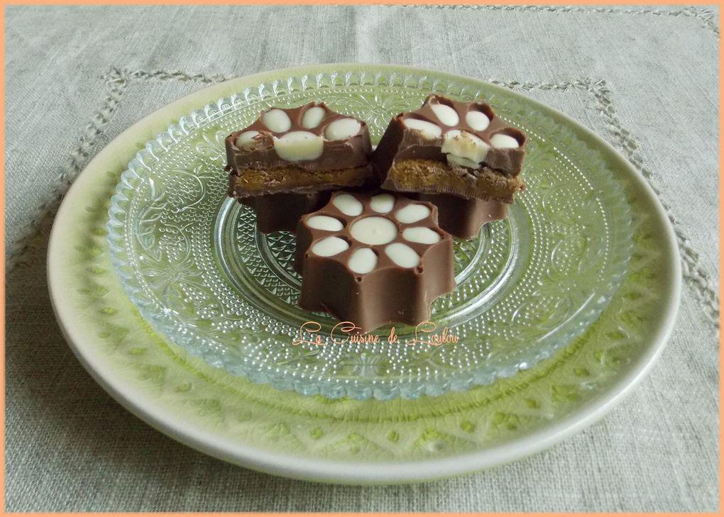 Chocolats au lait fourrés à la pistache