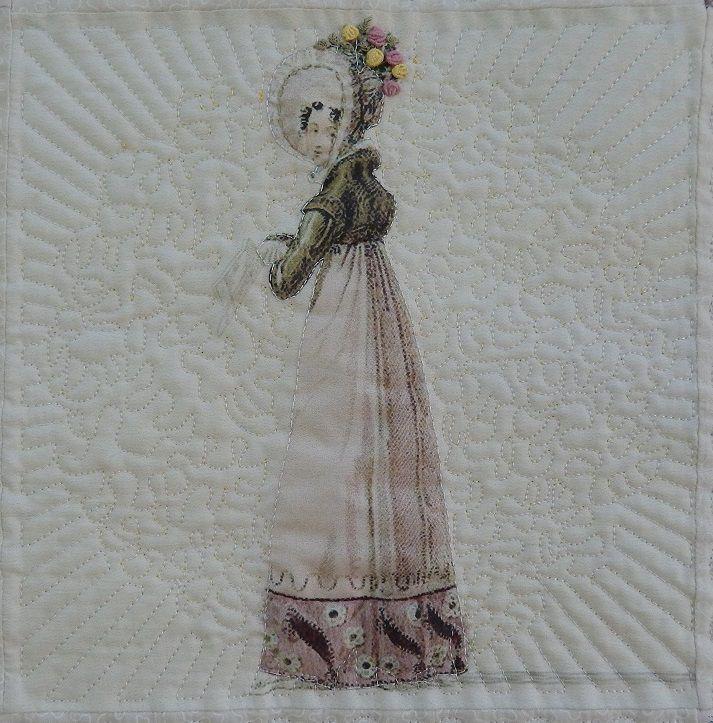 Renaissance (140cm x 140cm, molleton polyester nuage, fils moulinés DMC)