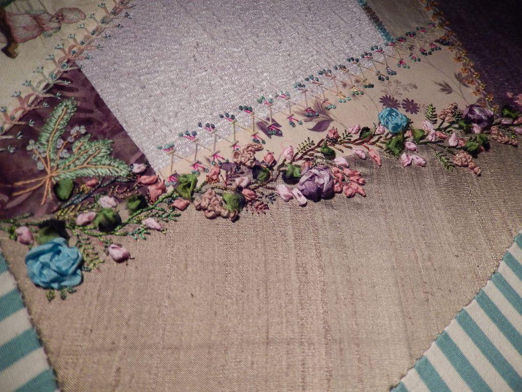 "crazy ""les roses de mon jardin"" bloc 2"