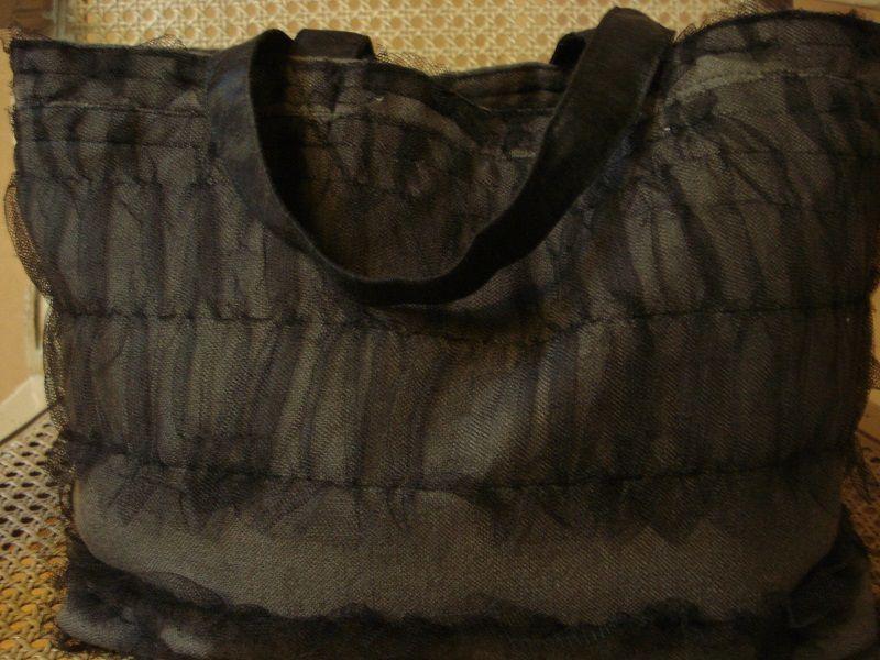 SAC TULLE NOIR/ &quot&#x3B;Haute Couture&quot&#x3B;