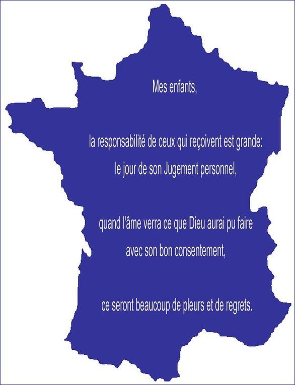 UN MESSAGE  D'UNE AME PRIVILEGIEE EN FRANCE