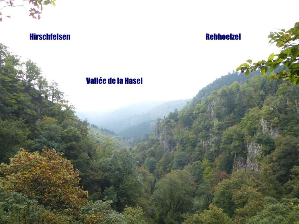 Diaporama : le rocher-belvédère du Nideckbach, sis au-dessus de la cascade (alt. 534 m).