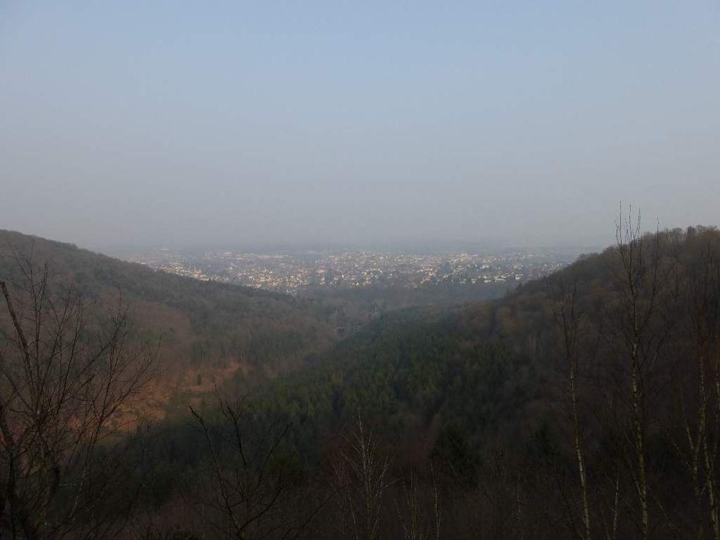 Le rocher-panorama du Marienfels et sa vue sur le Ramsthal et Saverne ...