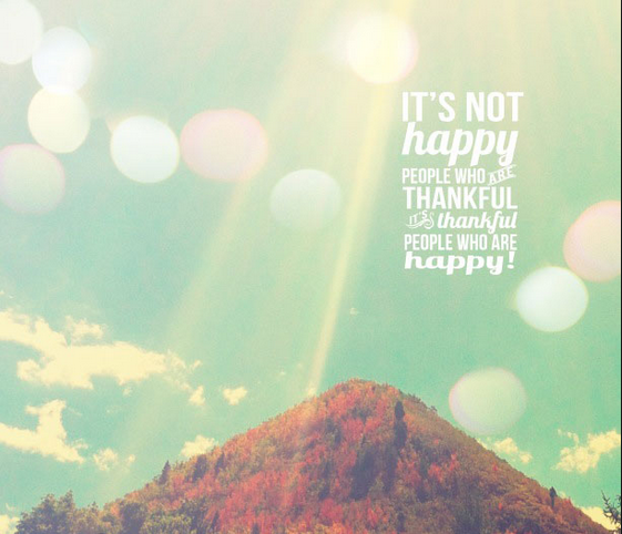 Every end is a new beginning! It's not happy people that are thankful but thankful people that are happy