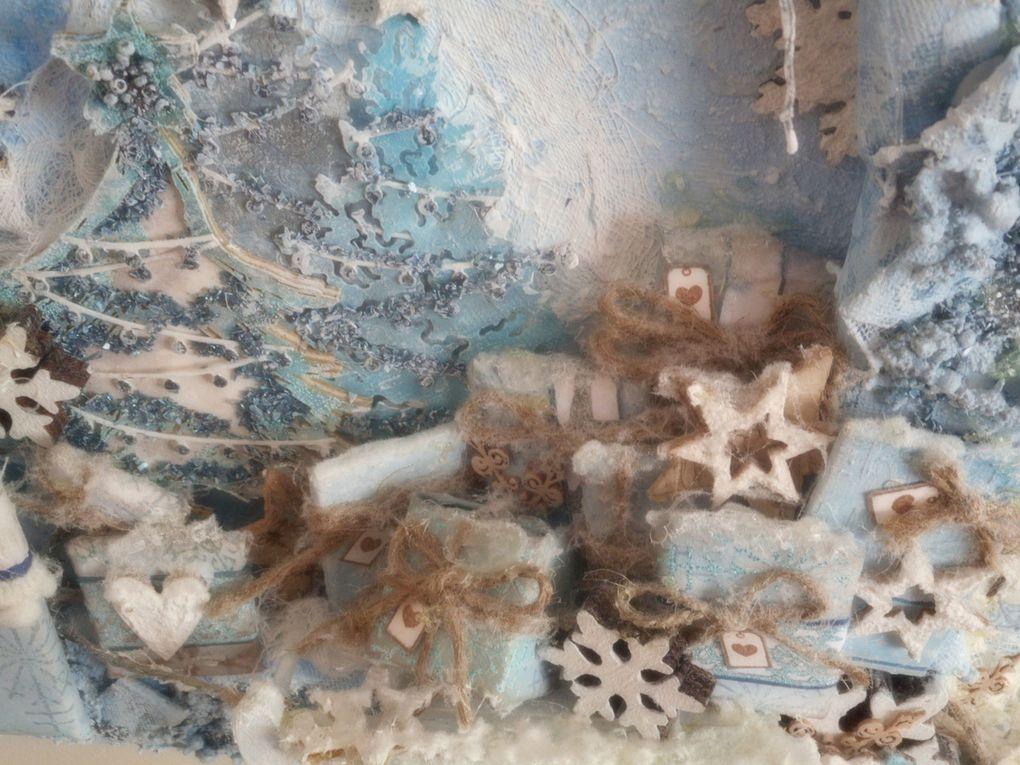 canvas de noël givrée