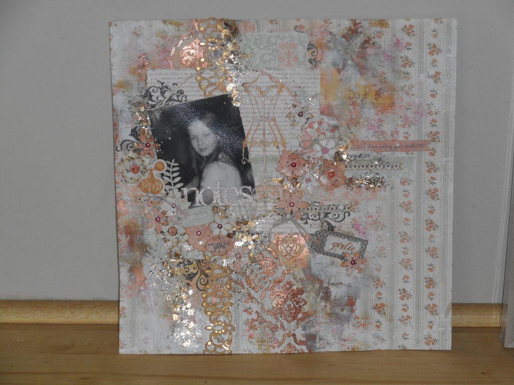 note girlie (mettalik wax  de prima sur page)