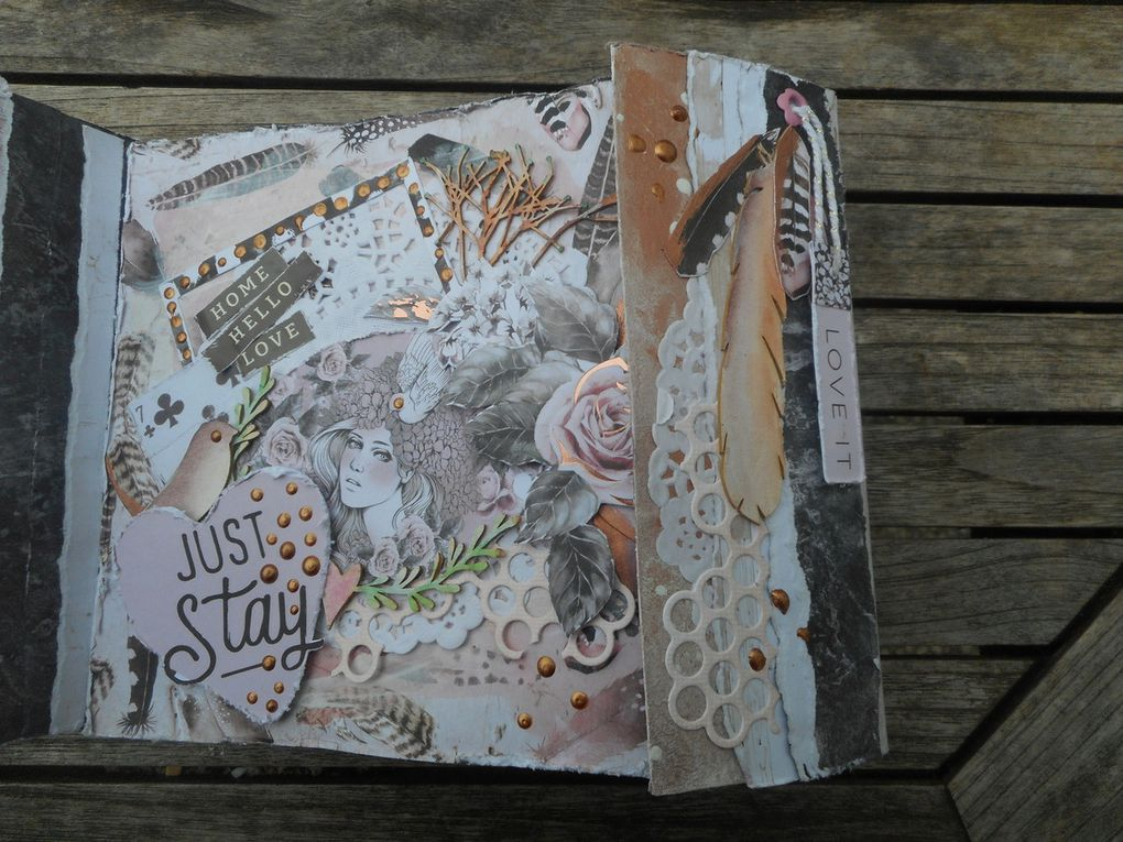 mini album shabby (rose quartz collection de prima)