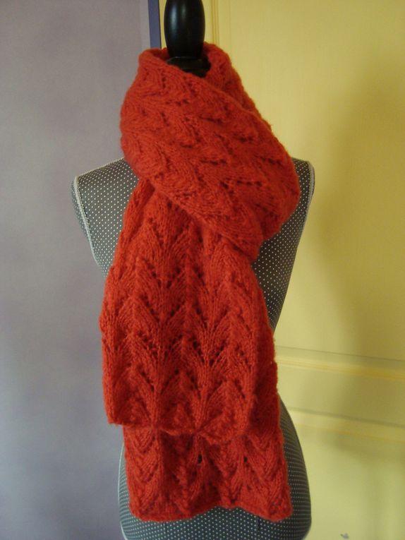 Tricot crochet de fil en aiguille de maille en maille - Point fantaisie tricot phildar ...