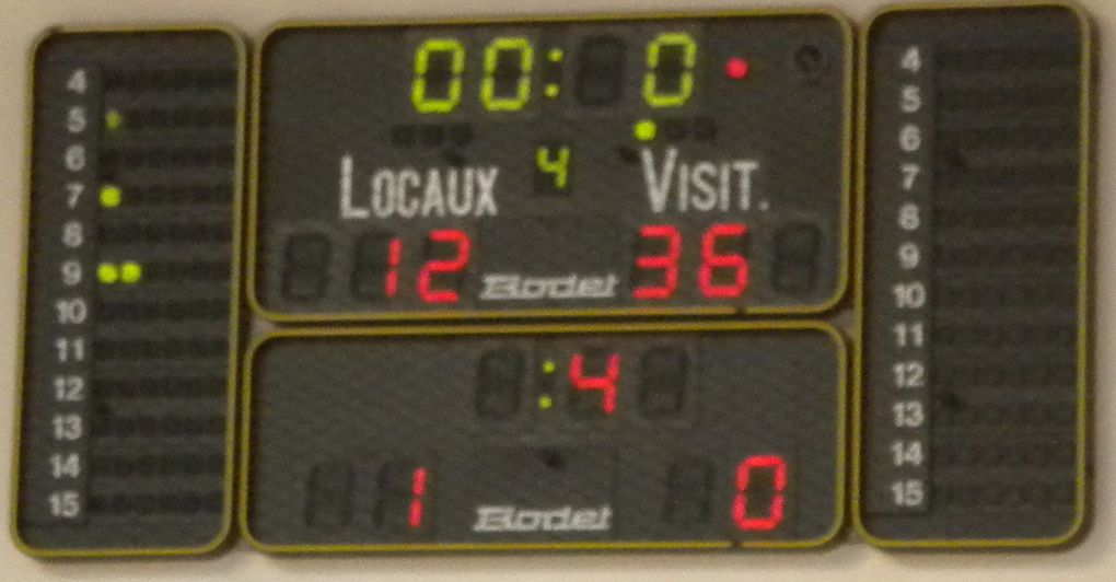 1er match des poussins-poussines le 27-09-2014 contre l'AS Jocondien
