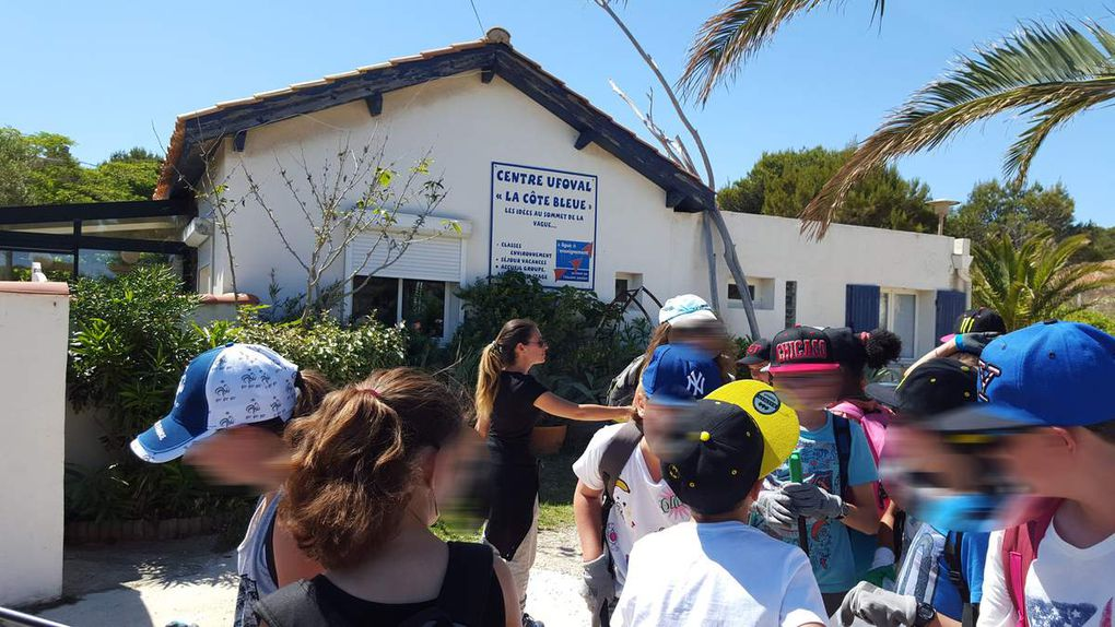 Intervention du 30 Mai 2016 avec une classe de mer de CM2 de Peypin, séjournant au Centre de vacances de la Ligue de l'Enseignement UFOVAL à Sausset les Pins