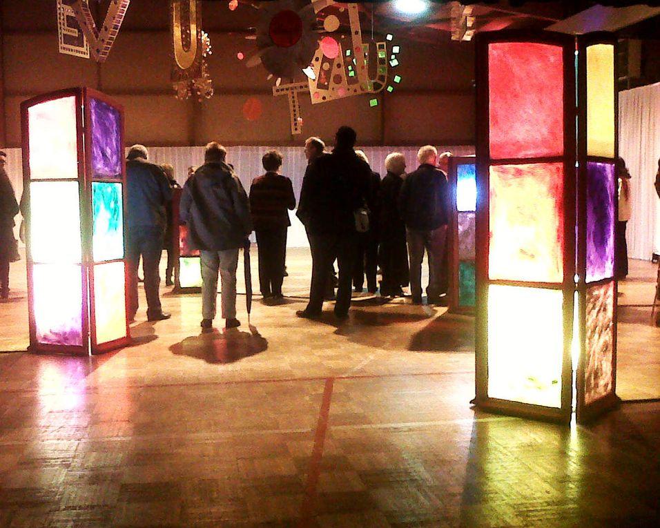 Installation pour la Cérémonie des Voeux du Maire de Nanteuil les Meaux sur le thème &quot&#x3B;OUVERTURE&quot&#x3B;
