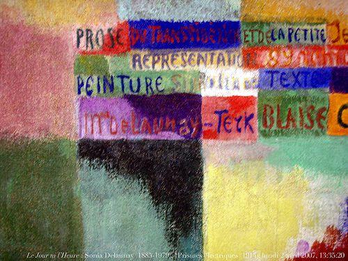 Blaise Cendras-Sonia Delaunay &quot&#x3B;La prose du transibérien et de la petite Jehanne de France&quot&#x3B; 1913.