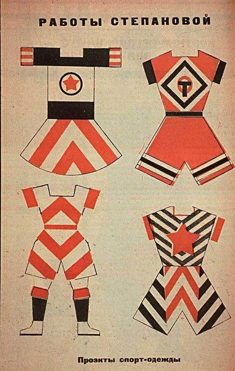 recherches textiles de Stepanova