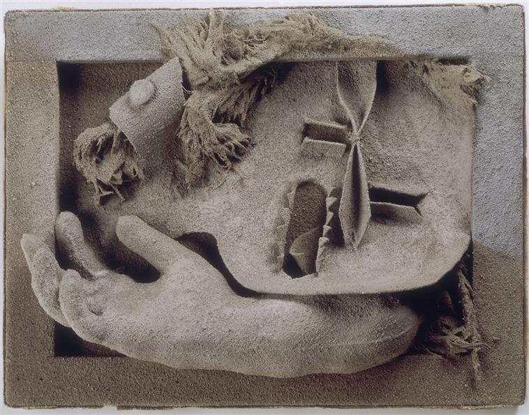 Picasso , composition au gant, femme au jardin