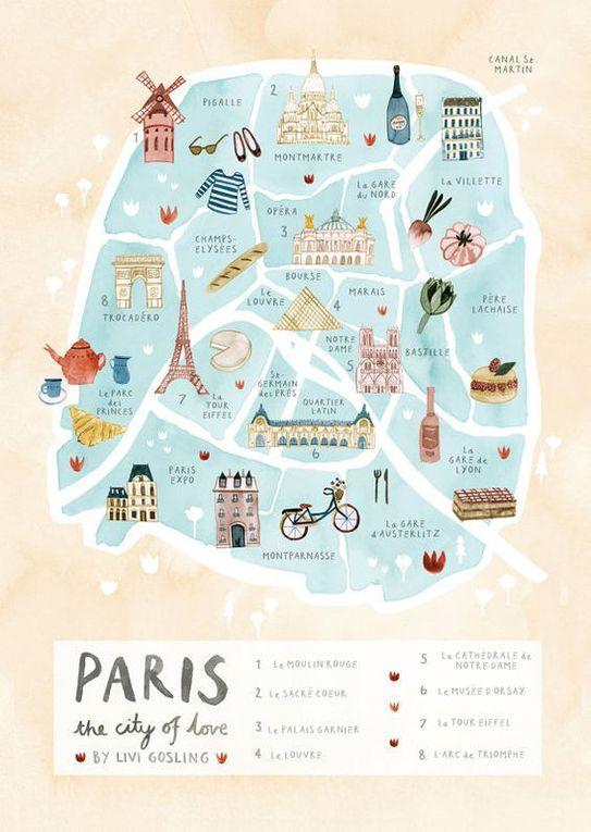 Atc brodés du mois de Juillet * &quot&#x3B; PARIS &quot&#x3B;