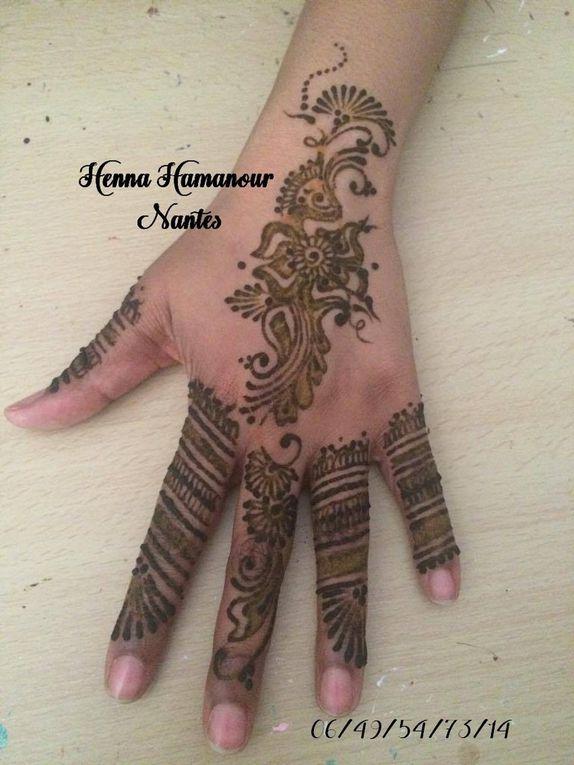 Petit medley de différents henné