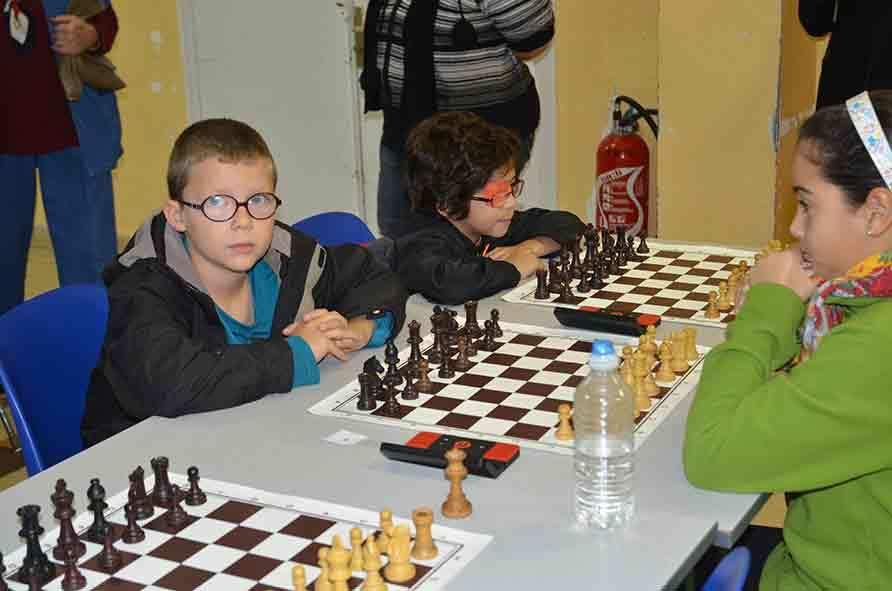 Les participants du Top Jeune échecs 2014 à Orange