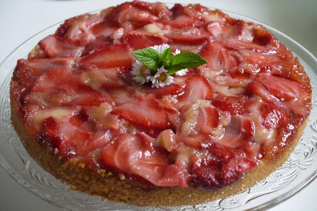 Upside down strawberry cake (gâteau à l'envers à la fraise)