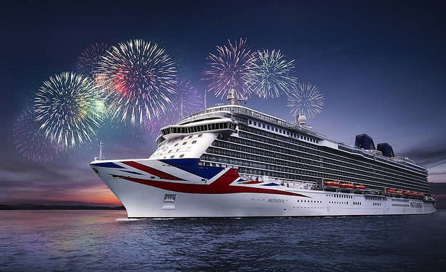 Le Regal Princess et le Britannia, image P&O Cruises