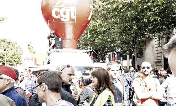Photos de la manifestation contre la loi travail XXL du 12 septembre