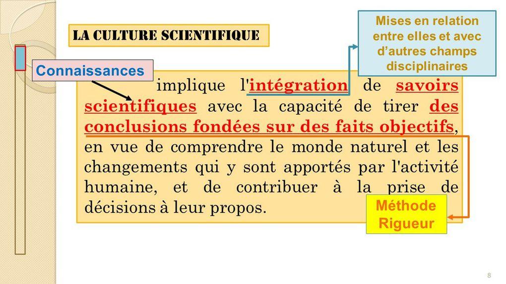 Cours de méthodologie (II)_Culture Scientifique