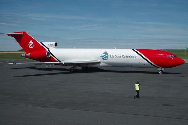 """Il s'agit du Boeing 727 G-OSRA de la société anglaise """"T2 Aviation""""."""