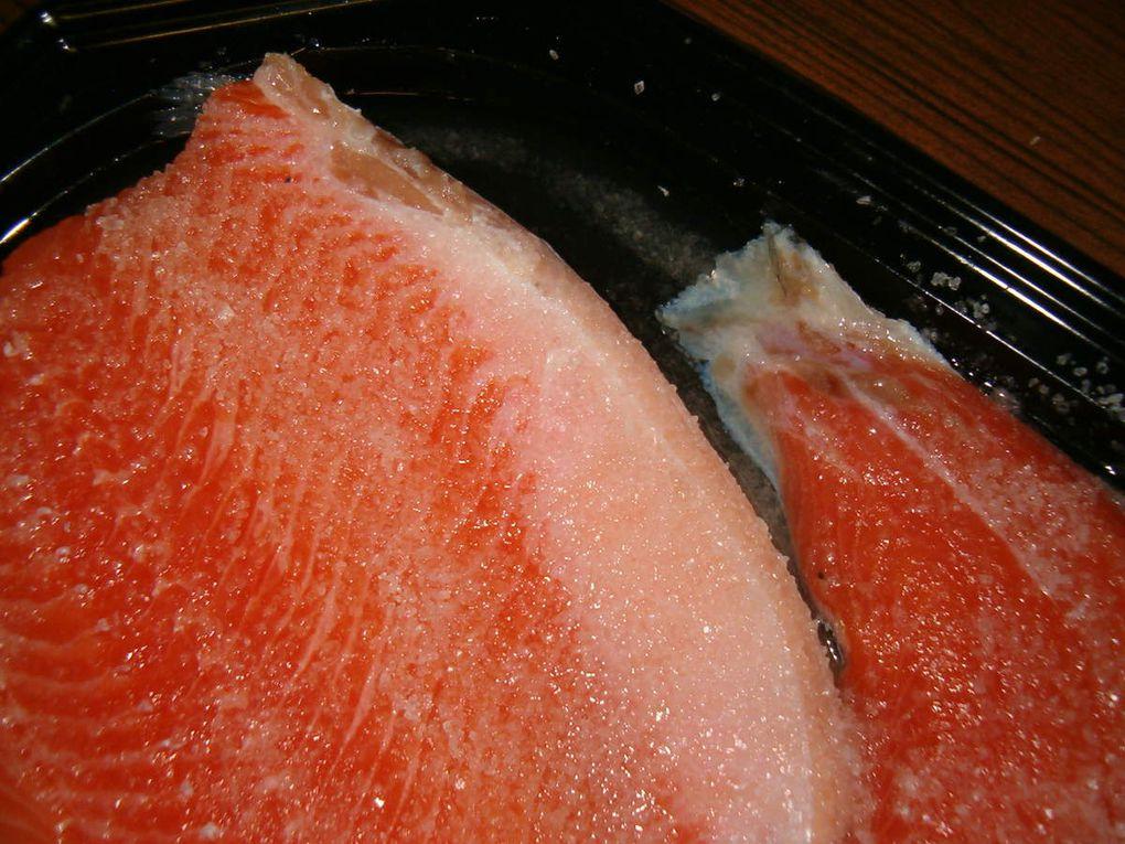 Préparation du saumon