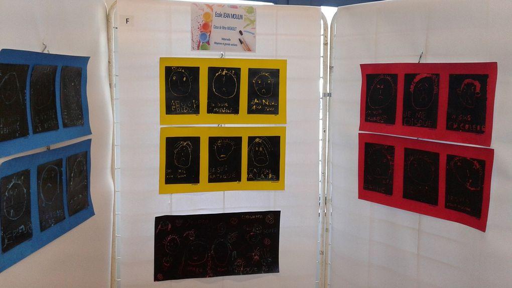 """L'école Jean Moulin, Maternelle, moyenne et grande sections, """"de la couleur suivant nos expressions"""". L'école Jean Moulin, CP et CE1, """"l'effet papillon"""""""