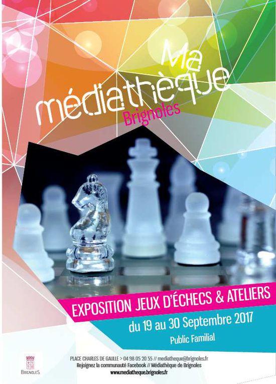 Exposition Jeux d'Echecs à la Médiathèque de Brignoles