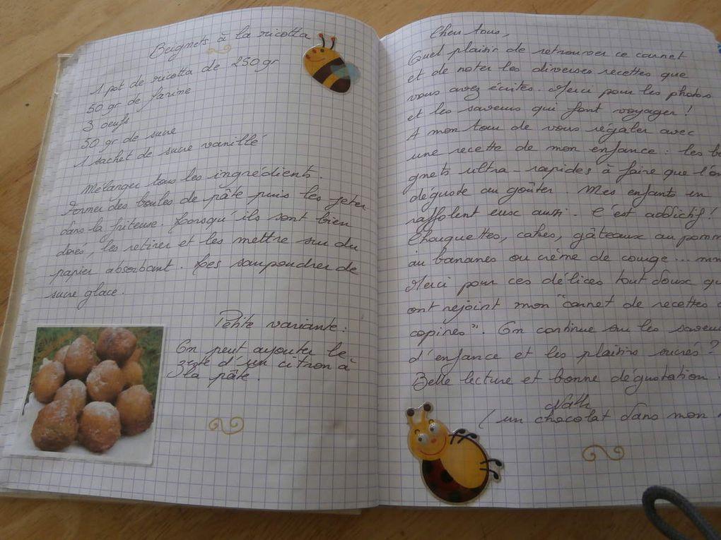 Des nouvelles de nos carnets de recettes par correspondance